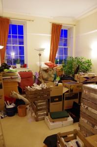 Unsere Möbel sind eingetroffen