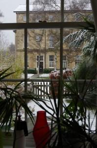 Schnee in unserem Garten